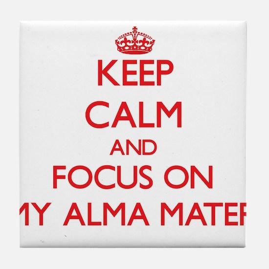 Cute Alma college Tile Coaster
