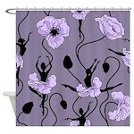 Ballerina Poppies In Violet Shower Curtain