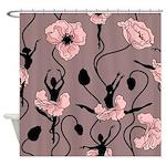 Ballerina Poppies In Blush Pink Shower Curtain