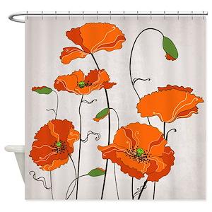 Floral Shower Curtains