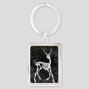 Prancing Deer Skeleton Keychains