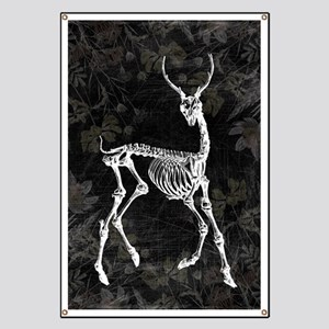 Prancing Deer Skeleton Banner