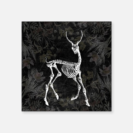 Prancing Deer Skeleton Sticker