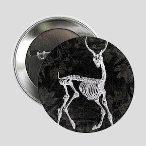 """Prancing Deer Skeleton 2.25"""" Button"""