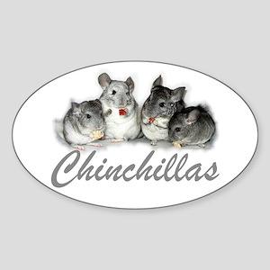 Chinchillas Oval Sticker