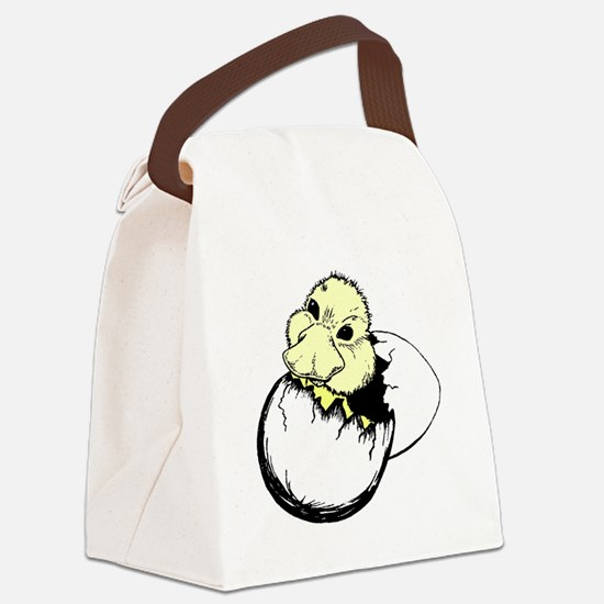 Duck Hatching Canvas Lunch Bag