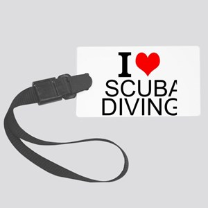 I Love Scuba Diving Luggage Tag