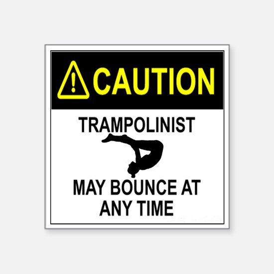 Caution Trampolinist Sticker