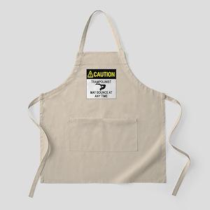 Caution Trampolinist Apron