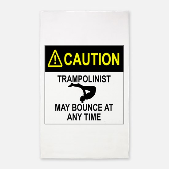 Caution Trampolinist 3'x5' Area Rug