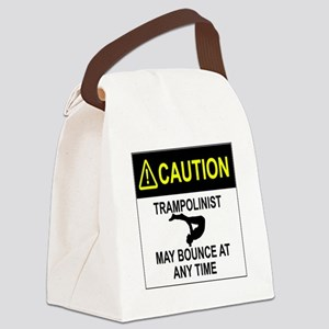 Caution Trampolinist Canvas Lunch Bag