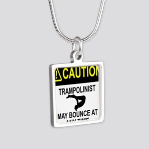 Caution Trampolinist Necklaces
