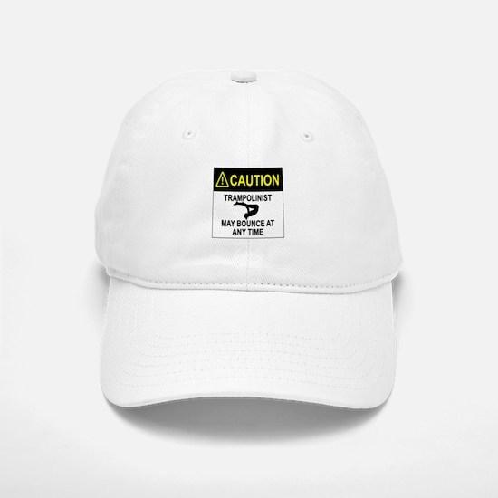 Caution Trampolinist Baseball Baseball Baseball Cap