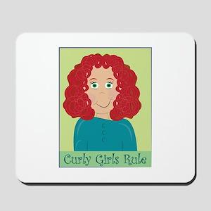 Curly Girls Rule Mousepad
