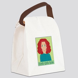 Curly Girls Rule Canvas Lunch Bag