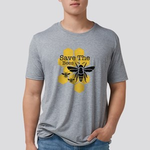 Honeycomb Save The Bees Mens Tri-blend T-Shirt