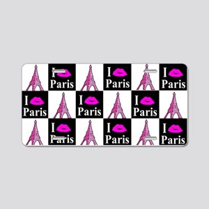 PARIS GIRL Aluminum License Plate