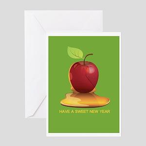 Sweet Jewish New Year Rosh Hashanah Greeting Cards