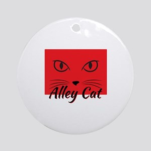 Alley Cat Ornament (Round)