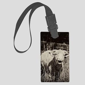 Funny Sheep Large Luggage Tag