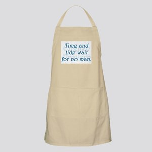 Time and Tide Wait for No Man Light Apron