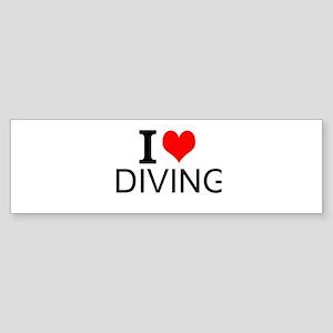 I Love Diving Bumper Sticker