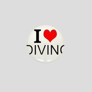 I Love Diving Mini Button
