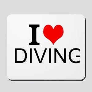 I Love Diving Mousepad
