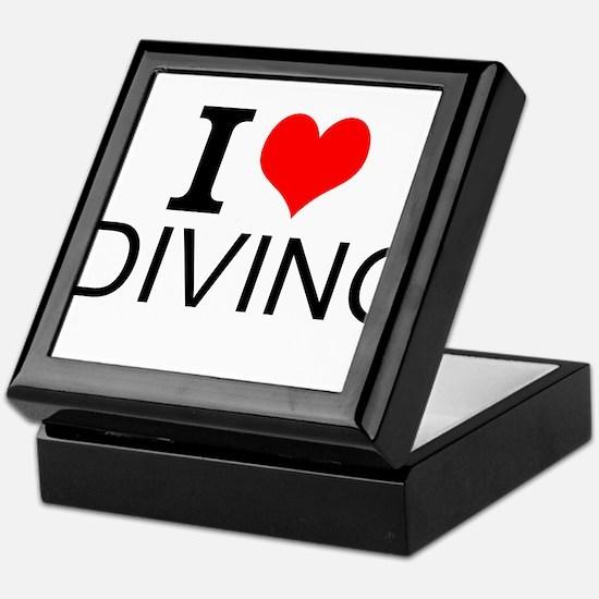 I Love Diving Keepsake Box