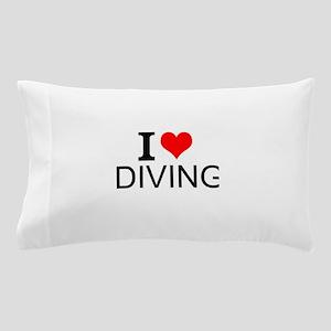 I Love Diving Pillow Case