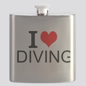 I Love Diving Flask
