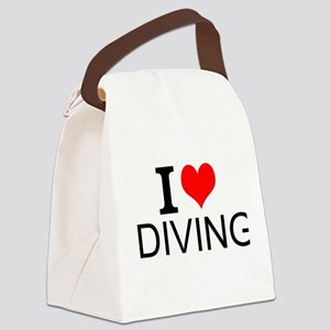 I Love Diving Canvas Lunch Bag