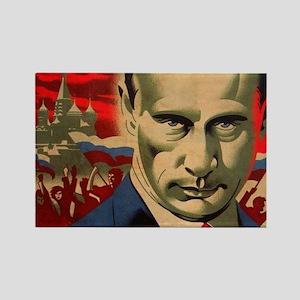 Vladimir Putin - ?????, ???????? Rectangle Magnet