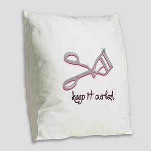 Keep It Curled Burlap Throw Pillow