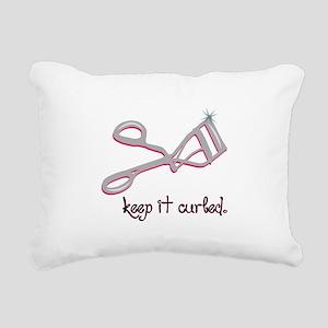 Keep It Curled Rectangular Canvas Pillow