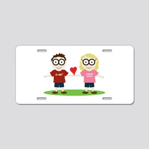 Girl and Boy Geek Aluminum License Plate