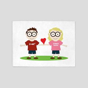 Girl and Boy Geek 5'x7'Area Rug