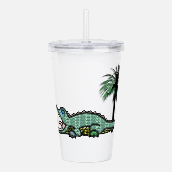 Cute Alligator Acrylic Double-wall Tumbler