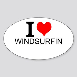 I Love Windsurfing Sticker