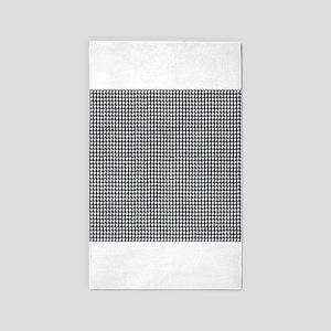 Denim Jean Houndstooth Pattern 3'x5' Area Rug