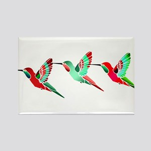 Xmas Hummingbirds Magnets
