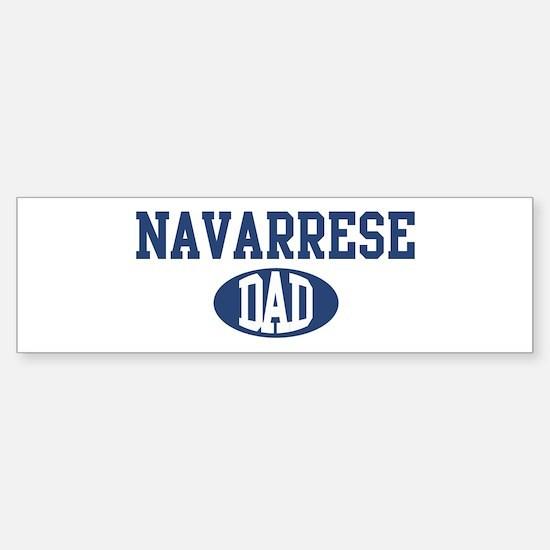 Navarrese dad Bumper Bumper Bumper Sticker