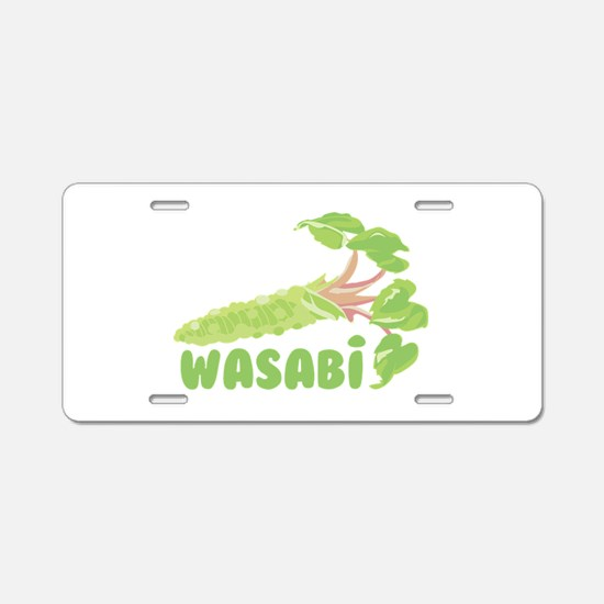 Wasabi Vegetable Aluminum License Plate
