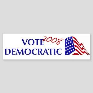 Vote Democratic 2008 Bumper Sticker