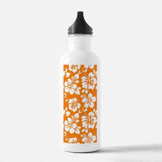 Orange Hawaiian Hibiscus Water Bottle