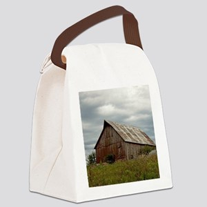 Vintage Iowa Barn  Canvas Lunch Bag