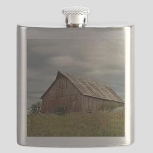 Vintage Iowa Barn  Flask