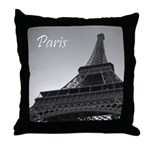 """""""Tour Eiffel"""" Throw Pillow"""