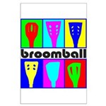 Broomball Heads Large Poster