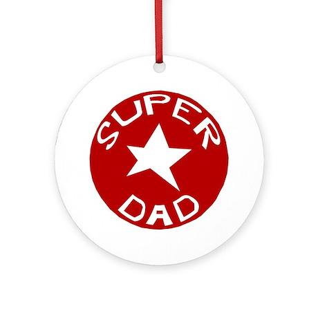 SUPER DAD Ornament (Round)